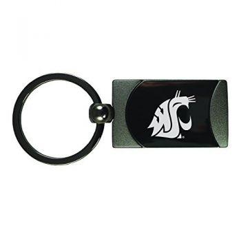 Washington State University -Two-Toned Gun Metal Key Tag-Gunmetal