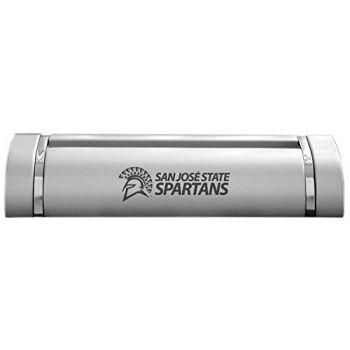 San Jose State University-Desk Business Card Holder -Silver