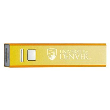 University of Denver - Portable Cell Phone 2600 mAh Power Bank Charger - Gold