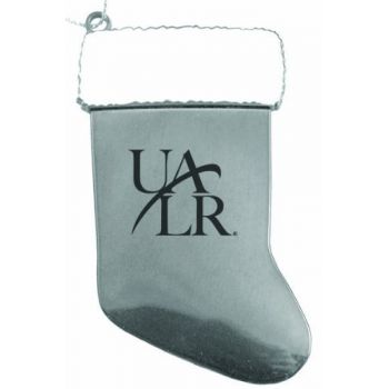 University of Arkansas at Little Rock - Chirstmas Holiday Stocking Ornament - Silver