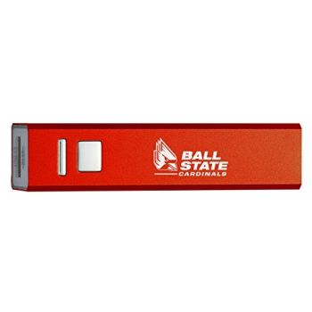 Ball State University - Portable Cell Phone 2600 mAh Power Bank Charger - Red