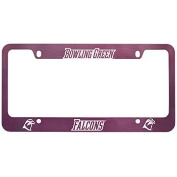 Bowling Green State University -Metal License Plate Frame-Pink