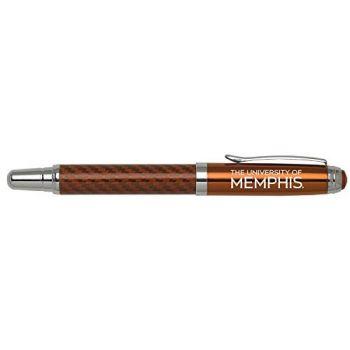 University of Memphis - Carbon Fiber Rollerball Pen - Orange