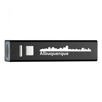 Quick Charge Portable Power Bank 2600 mAh - Albuquerque City Skyline