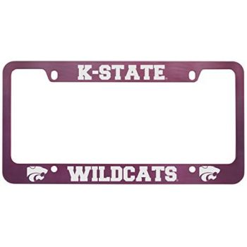 Kansas State University -Metal License Plate Frame-Pink