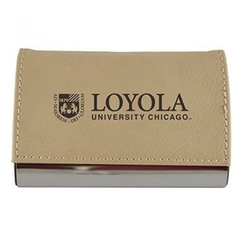 Velour Business Cardholder-Loyola University Chicago-Tan
