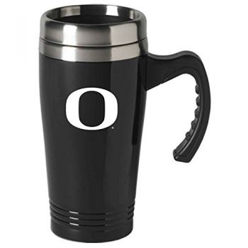 University of Oregon-16 oz. Stainless Steel Mug-Black