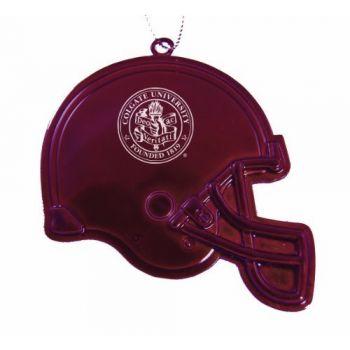 Colgate University - Chirstmas Holiday Football Helmet Ornament - Burgundy