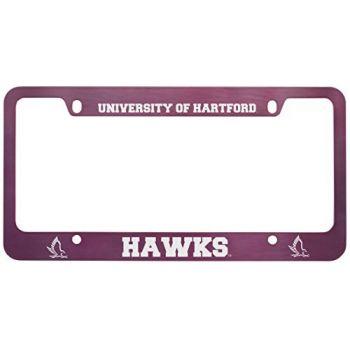 University of Hartford-Metal License Plate Frame-Pink