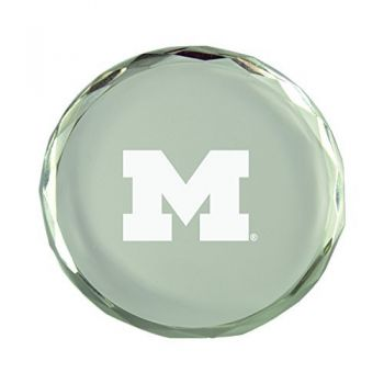 University of Michigan-Crystal Paper Weight