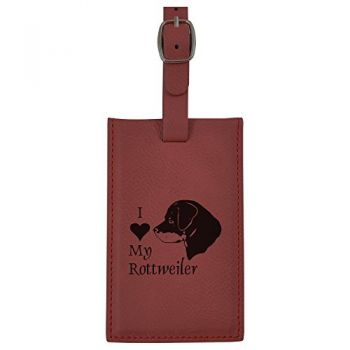 Travel Baggage Tag with Privacy Cover  - I Love My Rottweiler