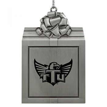 Tennessee Technological University -Pewter Christmas Holiday Present Ornament-Silver