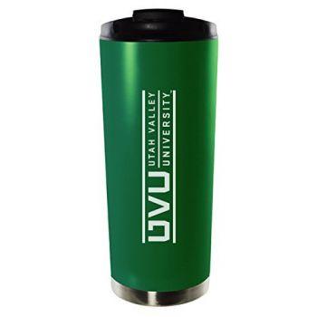 Utah Valley University-16oz. Stainless Steel Vacuum Insulated Travel Mug Tumbler-Green