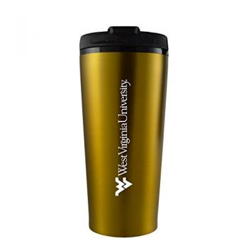 West Virginia University -16 oz. Travel Mug Tumbler-Gold