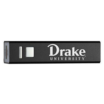 Drake University - Portable Cell Phone 2600 mAh Power Bank Charger - Black