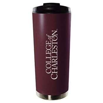 College of Charleston-16oz. Stainless Steel Vacuum Insulated Travel Mug Tumbler-Burgundy