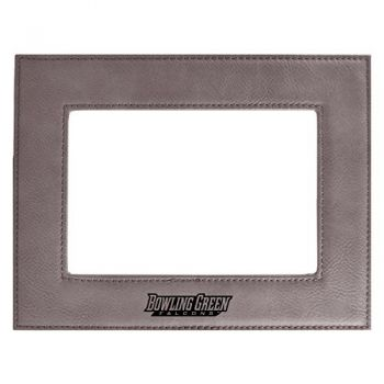 Bowling Green State University-Velour Picture Frame 4x6-Grey
