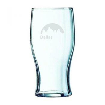 19.5 oz Irish Pint Glass - Dallas City Skyline