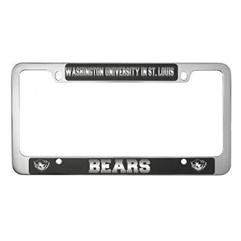 Washington University in St. Louis-Metal License Plate Frame-Black