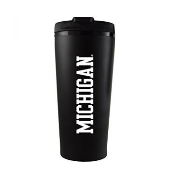 University of Michigan -16 oz. Travel Mug Tumbler-Black