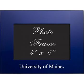 University of Maine - 4x6 Brushed Metal Picture Frame - Blue