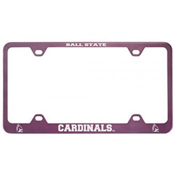Ball State University -Metal License Plate Frame-Pink