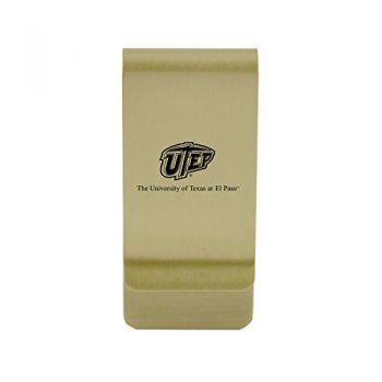 Utah State University|Money Clip with Contemporary Metals Finish|Solid Brass|High Tension Clip to Securely Hold Cash, Cards and ID's|Silver