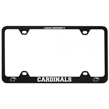 Lamar University-Metal License Plate Frame-Black