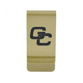 Georgia Institute of Technology|Money Clip with Contemporary Metals Finish|Solid Brass|High Tension Clip to Securely Hold Cash, Cards and ID's|Silver