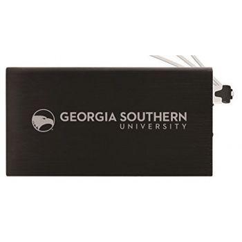 8000 mAh Portable Cell Phone Charger-Georgia Southern University-Black