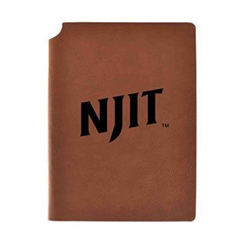 New Jersey institute of Technology Velour Journal with Pen Holder|Carbon Etched|Officially Licensed Collegiate Journal|