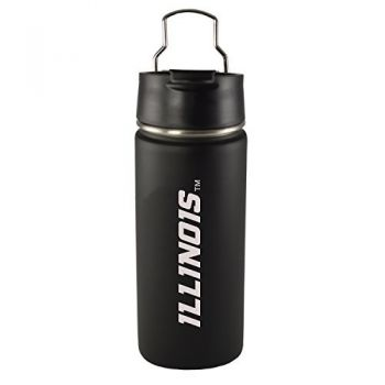 University of Illinois -20 oz. Travel Tumbler-Black