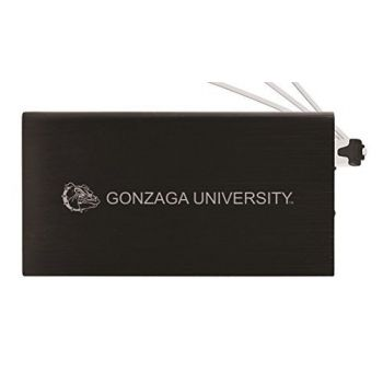 8000 mAh Portable Cell Phone Charger-Gonzaga University -Black