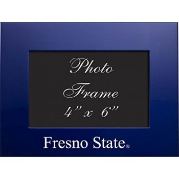 Fresno State University - 4x6 Brushed Metal Picture Frame - Blue