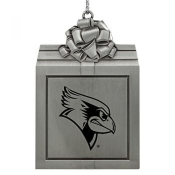 Illinois State University-Pewter Christmas Holiday Present Ornament-Silver
