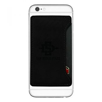 San Diego State University-Cell Phone Card Holder-Black