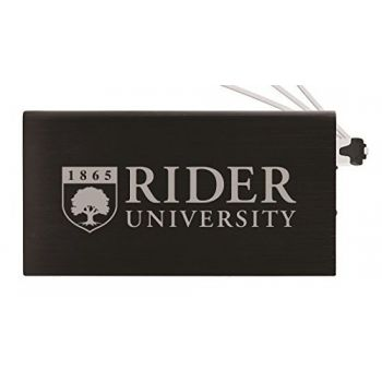8000 mAh Portable Cell Phone Charger-Rider University -Black