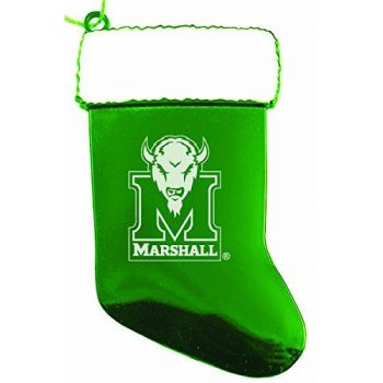 Marshall University - Christmas Holiday Stocking Ornament - Green