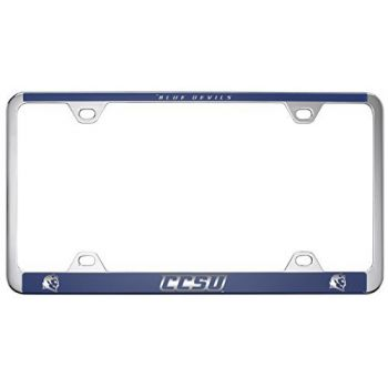 Central Connecticut University-Metal License Plate Frame-Blue