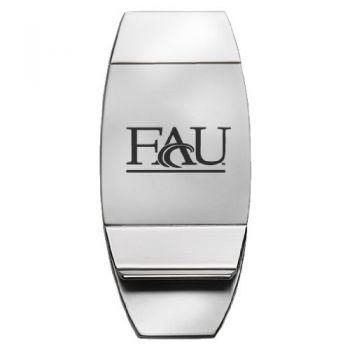 Florida Atlantic University - Two-Toned Money Clip - Silver