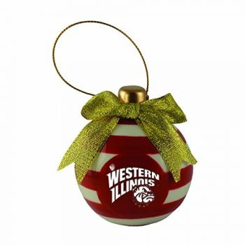 Western Illinois University -Christmas Bulb Ornament