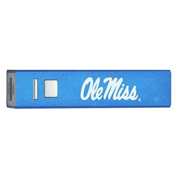 University of Mississippi - Portable Cell Phone 2600 mAh Power Bank Charger - Blue