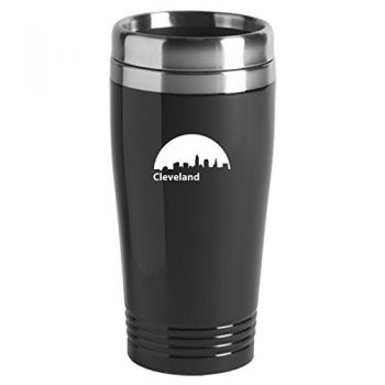 16 oz Stainless Steel Insulated Tumbler - Cleveland City Skyline