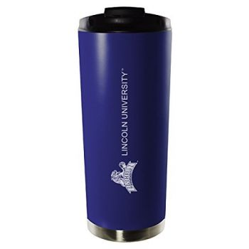 Lincoln University of Missouri-16oz. Stainless Steel Vacuum Insulated Travel Mug Tumbler-Blue