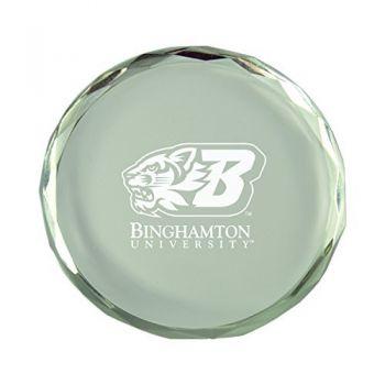 Binghamton University-Crystal Paper Weight