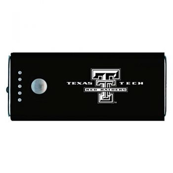 Texas Tech University -Portable Cell Phone 5200 mAh Power Bank Charger -Black