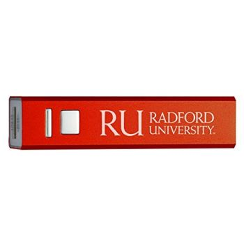 Radford University - Portable Cell Phone 2600 mAh Power Bank Charger - Red
