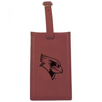 Illinois State University-Leatherette Luggage Tag-Burgundy