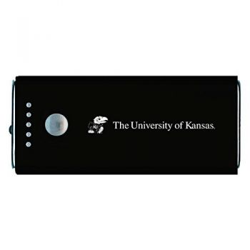 The University of Kansas-Portable Cell Phone 5200 mAh Power Bank Charger -Black