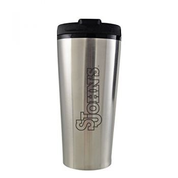 St. John's University -16 oz. Travel Mug Tumbler-Silver